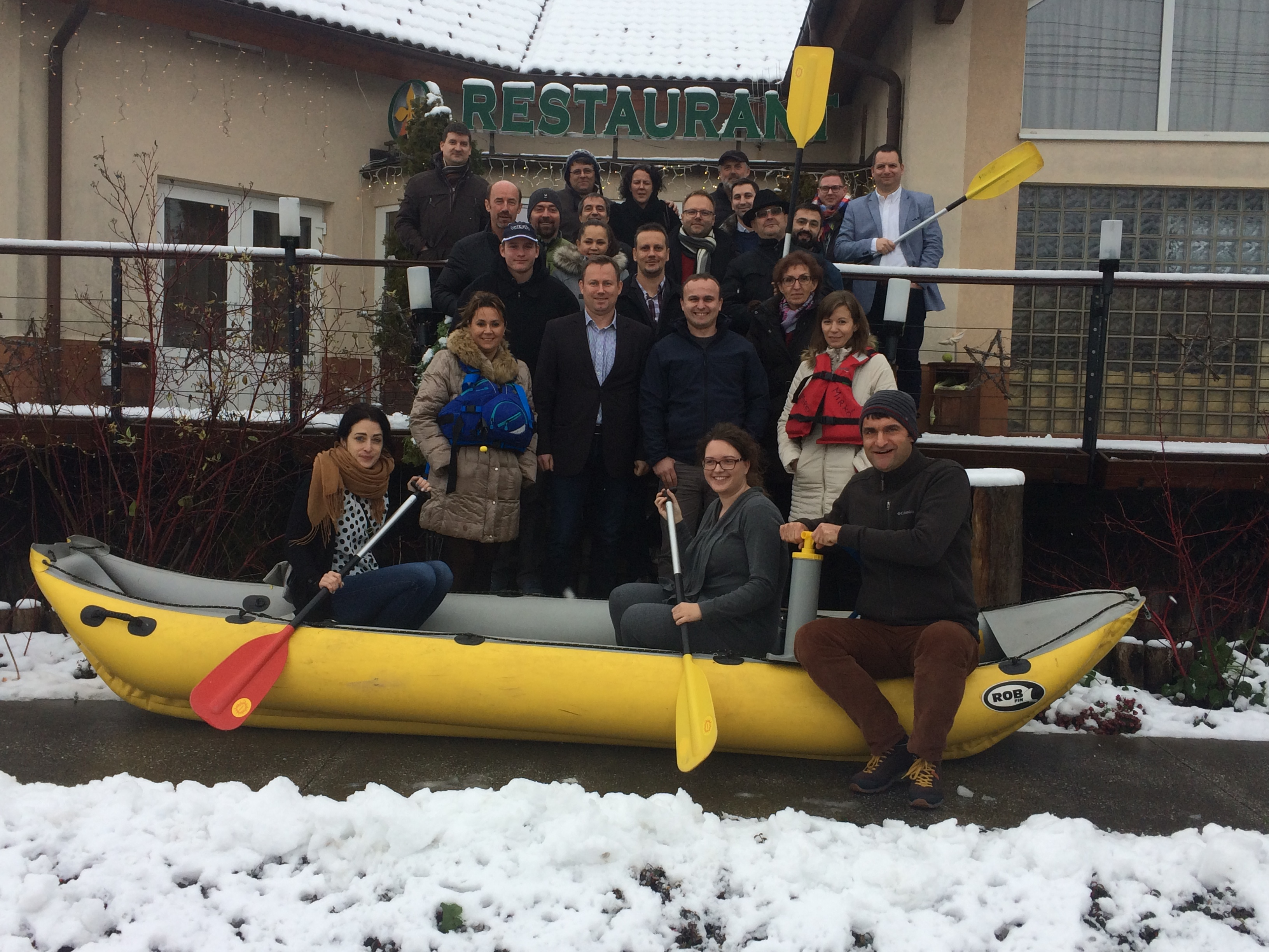 Snow was not an obstacle for a successful kick-off workshop of Danube Bike&Boat project partners