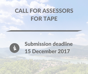 Call for Assessors for TAPE